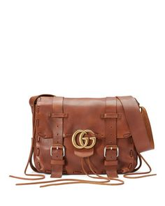 Gucci Mens GG Marmont Leather Messenger Bag a4e2b1f1e27
