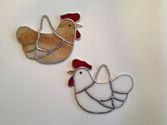 Stained Glass Hen Suncatcher by QTSG on Etsy