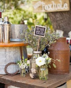 """See the """"Going Green"""" in our A Vintage DIY Rustic Wedding on a Ranch in California gallery"""