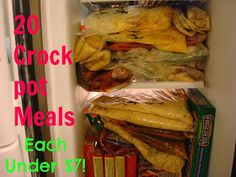 I Have A New Site Called Chocolates and Crockpots! Come Check It Out!: 20 Crockpot Meals each under $7!