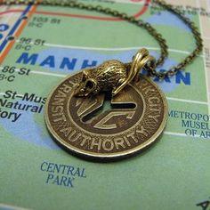NYC Subway Token Necklace