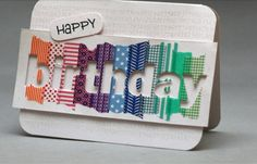 Check out this beautiful Washi-Tape birthday card 🎂😊