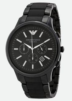 6cf2bcda7097 9.Emporio Armani นาฬิกา AR1451 Black Ceramica Mens Watch