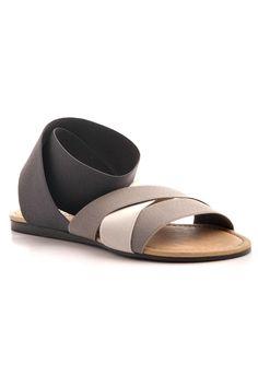 ACNE Sandale Strain in grau