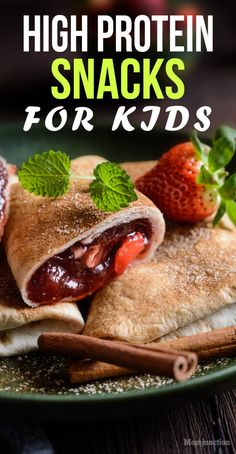 27 Healthy High Protein Snacks For Kids : Proteins are the building blocks of our body. Children need them in their growth years to help build their height and healthy weight. snacks, 27 Healthy High Protein Snacks For Kids High Protein Snacks, Protein Lunch, High Protein Recipes, Protein Cake, Protein List, High Calorie Snacks, High Protien, Protein Muffins, Protein Cookies