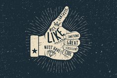 Thumb Up. Vector Illustration. by @Graphicsauthor