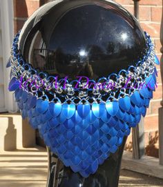 chain and scale maille headpiece