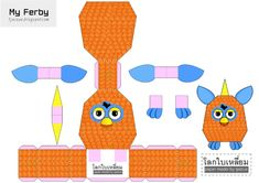 Blog Paper Toy papercraft Furby template preview Papercraft Furby