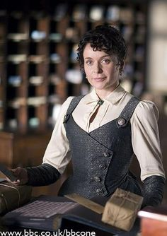 Lark Rise To Candleford. The vest is sewn as part of the skirt?
