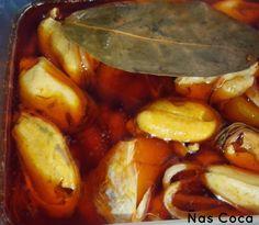 Ñas coca: Mejillones en escabeche caseros