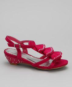 Take a look at this Fuchsia Sara 2 Sandal by Pink Kiwi on #zulily today!
