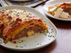 Meatloaf Lasagna: Two comfort food favorites come together to make a crowd-pleasing and fun new dish. We love that you get satisfying meatloaf and cheesy, saucy lasagna in every bite. To save time, you can use 1 cup of your favorite prepared red sauce.