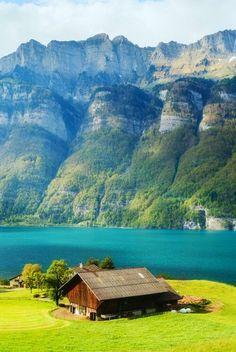 Beautiful Lake Walensee ~ St.Gallen, Switzerland