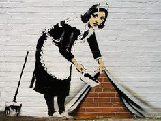 The Sweeper: by Banksy