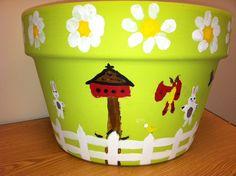 adorable garden pot with garden view!