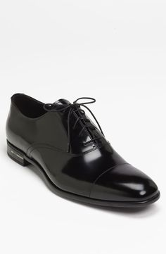 Black Leather Oxford Shoes by Prada. Buy for $620 from Nordstrom