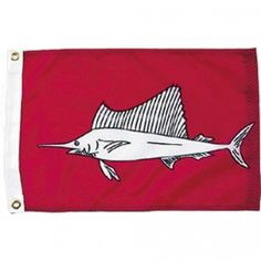 Nyl-Glo Sailfish Flag-12 in. X 18 in. http://www.pacificcoastflag.com/product-type/sports-recreation-leisure-boating-fishing-auto-racing/12-in-x-18-in-nyl-glo-sailfish-flag.html