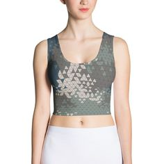 Military Triangle CAMO Sublimation Cut & Sew Crop Top