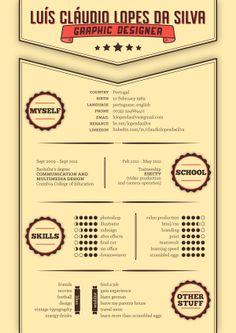 My New Resume by Cláudio Lopes da Silva, via Behance