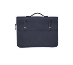 "Serviette 57 Hermes briefcase in Epsom calfskin Silver and palladium plated hardware Measures: 15"" x 11"" x 1"""
