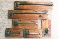 Industrial Bath Accessories /Towel Bar/ Toilet Paper Holder/ Robe Hook on Etsy, $35.00