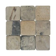 Daltile Travertine Copper 12 in. x 12 in. Tumbled Stone Floor and Wall Tile (10 sq. ft. / case)-TS7312121P - The Home Depot