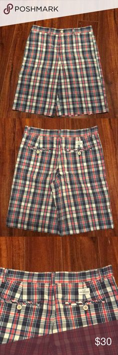 Shorts Vineyard print shorts a child size 16 or a adult 2-4.  These are Uber cute with pink, blue,white shirt. Perfect for golf or boating or just hanging out. Brand new no tags Vineyard Vines Shorts Bermudas