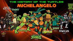 History Of Michelangelo by AngryGermanKidoble on DeviantArt Ninja Turtles 2014, Teenage Mutant Ninja Turtles, Marvel Universe Movies, Tmnt Mikey, Original Tv Series, Amazing Lego Creations, Tmnt 2012, Dc Movies, Disney Fan Art