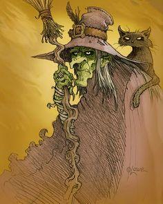Sketchbook: Old Witch 2 Vintage Witch, Vintage Halloween, Halloween Halloween, Halloween Table, Halloween Signs, Vintage Holiday, Spirit Halloween, Halloween Makeup, Halloween Costumes