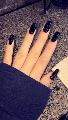 73 Most Eye-Catching Different Color Coffin Nails For Prom And . 73 Most Eye-Catching Different Color for Prom and 3 color coffin nails - Coffin Nails Black Coffin Nails, Black Acrylic Nails, Red Nails, White Nails, Hair And Nails, Color Nails, Black Acrylics, Gel Nails At Home, Different Nail Designs
