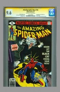 CGC SS 9.6 Signed Stan Lee Amazing Spider-man #194 ~ 1st Black Cat- now on www.vaultcollectibles.com. #blackcat #spiderman #spider-man #stanlee #cgcss #cgc
