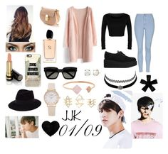 """Jungkook~~~"" by dounia-bts-swag ❤ liked on Polyvore featuring Chicwish, Karl Lagerfeld, Topshop, Chloé, Giorgio Armani, Gucci, Casetify, Yves Saint Laurent, Maison Michel and Michael Kors"
