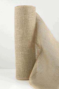 "Natural Burlap Jute Roll Fabric 10 yards 30 foot x 14"" wide"