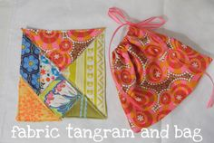 I have to credit my friend Emily with this idea; she has made tangrams out of cardstock, but suggested that since I love fabric, I should m...