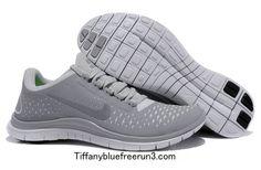 Men's Nike Free 3.0 V4 Wolf Grey Reflect Silver Pure Platinum $50