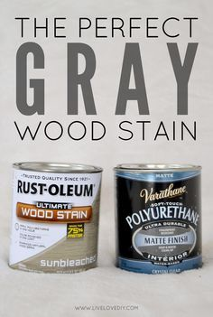 How to get the perfect weathered gray wood using Rustoleum Sunbleached Wood Stain and Varathane Matte Polyurethane. Love this!