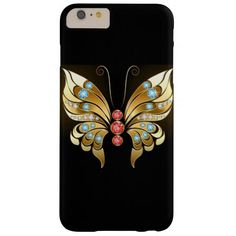 stunning gold butterfly barely there iPhone 6 plus case