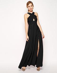 ASOS Cross Front Super Full Maxi Dress