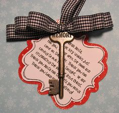A key for Santa with poem