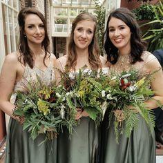 Flowers by Moss and Mushroom Bridesmaid Dresses, Wedding Dresses, Stuffed Mushrooms, Bouquet, Flowers, Fashion, Bridesmade Dresses, Bride Dresses, Stuff Mushrooms