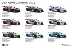 Sechs Teams mit 9 Audi R8 LMS – 12 Siegfahrer beim 24h-Rennen auf dem Nürburgring. Das größte Rennsport-Spektakel in Deutschland legt nochmals zu: Audi ist erstmals mit neun R8 LMS ... weiterlesen