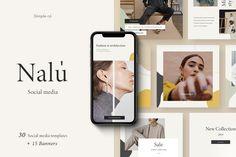 Nalu - Social Media Pack by Simple có on Best Instagram Posts, Free Instagram, Instagram Feed, Instagram Ideas, Instagram Fashion, Social Media Branding, Social Media Design, Social Media Marketing, Inbound Marketing