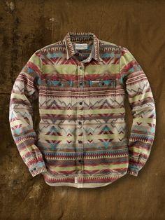 Mountain Jacquard Ward Shirt - Denim & Supply Custom Fit - Ralph Lauren UK