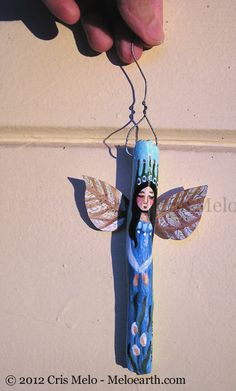 Driftwood Angel Ornament by meloearth - SOLD