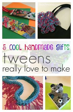 5 cool handmade gifts tweens love to make   These are super handmade crafts that tweens can make for fun, to use as gifts, or even to sell! Get young entrepreneurs up and moving with their businesses thanks to these awesome, super-cool crafts!