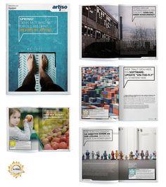 Ausgezeichnet mit dem International Creative Media Award in Bronze: Die Imagezeitung der artiso solutions GmbH.