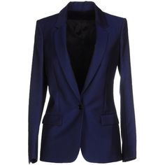 Acne Studios Blazer ($241) ❤ liked on Polyvore featuring outerwear, jackets, blazers, blue, blue blazer, one button jacket, blazer jacket, multi pocket jacket and lapel jacket