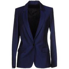 Acne Studios Blazer ($241) ❤ liked on Polyvore featuring outerwear, jackets, blazers, blue, blue blazer, one button jacket, blazer jacket, multi pocket jacket and lapel jacket