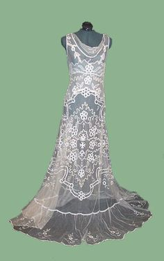 I like the shape of this lace dress for the base