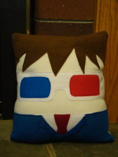 Doctor Who plush pillow,  David Tennent, 10th Dr decorative pillow. $30.00, via Etsy.